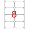 APLI 99,1x67,7 mm, kerekített sarkú univerzális Etikett (100 lap)