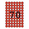 APLI A5 hordozón 56 etikett/csomag piros színű 19 mm kör etikett