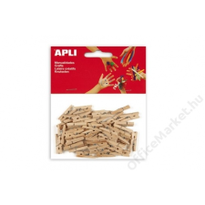 APLI Csipesz, fa, 25x3 mm, APLI, natúr (LCA13478) dekorációs kellék