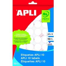 APLI Etikett, 10 mm kör, kézzel írható, APLI, 1260 etikett/csomag etikett
