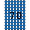 APLI Etikett, 19 mm kör, színes, A5 hordozón, APLI, kék, 560 etikett/csomag