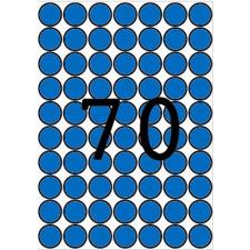 APLI Etikett, 19 mm kör, színes, A5 hordozón, APLI, kék, 560 etikett/csomag etikett