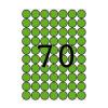 APLI Etikett, 19 mm kör, színes, A5 hordozón, APLI, zö