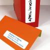 APLI Etikett, 20x50 mm, kerekített sarkú, A5 hordozón, APLI, 420 etikett/csomag