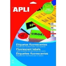 APLI Etikett, 210x297 mm, színes, APLI, neon sárga, 100 etikett/csomag etikett