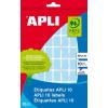 APLI Etikett, 25x40 mm, kézzel írható, színes, APLI, kék, 128 etikett/csomag