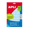 APLI Etikett, 25x40 mm, kézzel írható, színes, kerekít