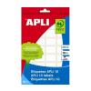 APLI Etikett, 34x67 mm, kézzel írható, kerekített sark