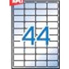 APLI Etikett, 48,5x25,4 mm, poliészter, kerekített sarkú, APLI, átlátszó, 440 etikett/csomag etikett