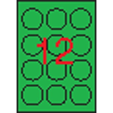 APLI Etikett, 60 mm kör, színes, APLI, neon zöld, 240 etikett/csomag etikett