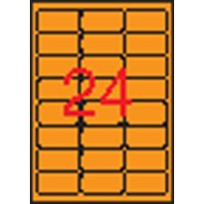 APLI Etikett, 64x33,9 mm, színes, kerekített sarkú, APLI, neon narancs, 480 etikett/csomag etikett