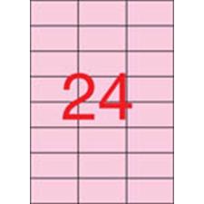 APLI Etikett, 70x37 mm, színes, APLI, pasztell rózsaszín, 480 etikett/csomag etikett