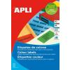 APLI Etikett, 70x37 mm, színes, APLI, piros, 480 etikett/csomag