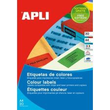APLI Etikett, 70x37 mm, színes, APLI, piros, 480 etikett/csomag etikett