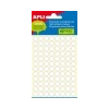 APLI Etikett, 8 mm kör, kézzel írható, fehér, APLI, 480 etikett/csomag