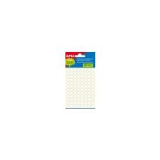 APLI Etikett, 8 mm kör, kézzel írható, fehér, APLI, 480 etikett/csomag etikett