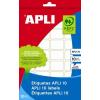 APLI Etikett, 8x12 mm, kézzel írható, APLI, 1200 etikett/csomag