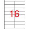 APLI Etikett, lézernyomtatókhoz, 105x35 mm, APLI, 4000 etikett/csomag