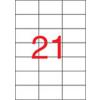 APLI Etikett, lézernyomtatókhoz, 42,4x70 mm, APLI, 5250 etikett/csomag
