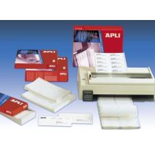 APLI Etikett, mátrixnyomtatókhoz, 2 pályás, 88,9x36 mm, APLI, 8000 etikett/csomag etikett