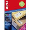 """APLI Etikett, univerzális, 105x148 mm, extra erős, APLI """"Super Sticky"""", 400 etikett/csomag"""