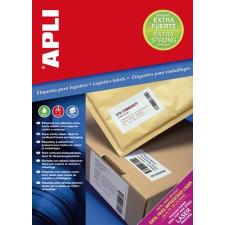"""APLI Etikett, univerzális, 105x148 mm, extra erős, APLI """"Super Sticky"""", 400 etikett/csomag etikett"""