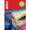 """APLI Etikett, univerzális, 105x37 mm, extra erős, APLI """"Super Sticky"""", 1600 etikett/csomag"""