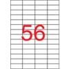 APLI Etikett, univerzális, 52,5x21,2 mm, eltávolítható, kerekített sarkú, APLI, 5600 etikett/csomag