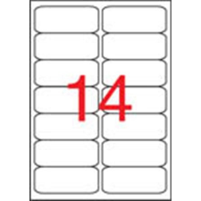 APLI Etikett, univerzális, 99,1x38,1 mm, kerekített sarkú, APLI, 1400 etikett/csomag etikett