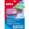 APLI Fagyasztható, kerekített sarkú etikett, 63,5 x 38,1 mm, 210 etikett/csomag A4
