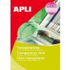 APLI Fólia, írásvetítőhöz, A4, fénymásolóba, kézi adagolású, APLI, 100 lap