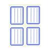 APLI Füzetcímke, kék szegélyes, vonalas, 38x50 mm, 20