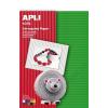 APLI Hullámkarton papír, 297x210 mm, 10 ív, APLI, vegyes színek (LCA13826)
