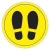 APLI Információs matrica, padlójelölő, APLI, cipő mintázat