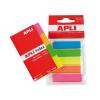 APLI Jelölõcímke, mûanyag, 5x25 lap, 12x45 mm, APLI, 5 szín