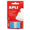 APLI Jelölőcímke, műanyag, 50 lap, 25x45 mm, APLI, kék