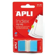 APLI Jelölőcímke, műanyag, 50 lap, 25x45 mm, APLI, kék post-it