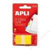 APLI Jelölőcímke, műanyag, 50 lap, 25x45 mm, APLI, sárga (LCA12484)