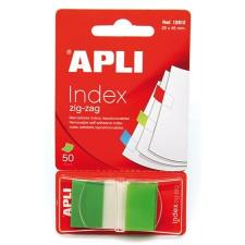 APLI Jelölőcímke, műanyag, 50 lap, 25x45 mm, APLI, zöld post-it