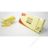 APLI Öntapadó jegyzettömb, 38x51 mm, 100 lap, APLI, sárga (LNP10977)