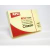 APLI Öntapadó jegyzettömb, 50x75 mm, 100 lap, APLI, sárga