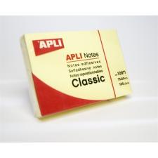 APLI Öntapadó jegyzettömb, 50x75 mm, 100 lap, APLI, sárga jegyzettömb