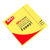 APLI Öntapadó jegyzettömb, 75x75 mm, 100 lap, APLI, neon sárga