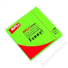 APLI Öntapadó jegyzettömb, 75x75 mm, 100 lap, APLI, neon zöld (LNP11899)