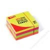 APLI Öntapadó jegyzettömb, 75x75 mm, 400 lap, APLI, neon (LNP10974)