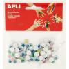 APLI Öntapadó mozgó szem, kör, APLI Creative, vegyes színek (LCA13266)
