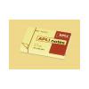 APLI Öntapadós jegyzettömb, 100 lapos, sárga, 50 x 75 mm
