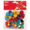 APLI Pom-pom, csillogó, APLI Creative, vegyes színek (LCA13062)