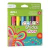 """APLI Tempera stift készlet, toll alakú, """"Kids"""", 6 különböző fluoreszkáló szín"""