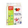 """APLI Textilmarker, 2,9 mm, APLI """"Kids Textil"""", 10 különböző szín"""